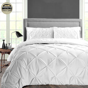 White Pintuck Duvet Cover