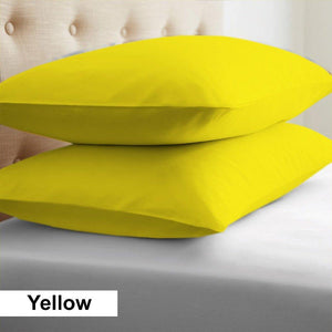 yellow euro shams cover