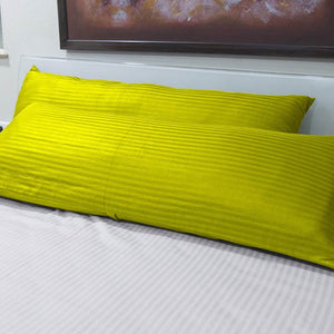 Yellow Stripe 20x54 Body Pillow Cover