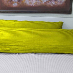 Yellow Stripe Body Pillow Cover