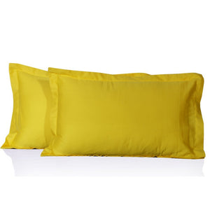 Yellow Pillow Shams Solid Comfy Sateen