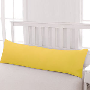 Yellow body pillow