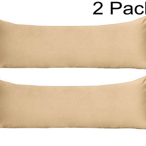 beige body pillow cover