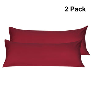 burgundy body pillow covers
