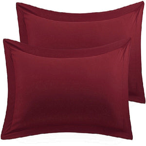 burgundy euro shams set of 2
