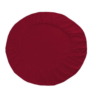burgundy round bed sheet