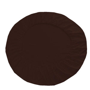 chocolate round bed sheet set