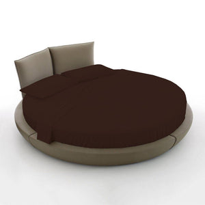 chocolate round bed sheet