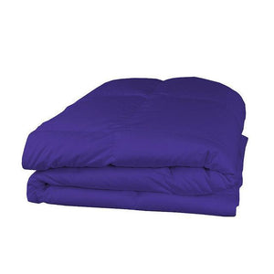 Cotton purple comforter