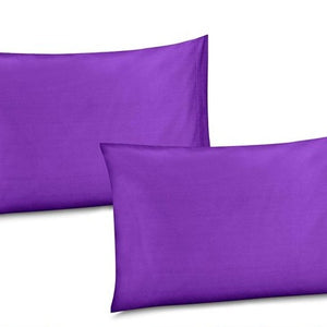 Dark purple pillow cases