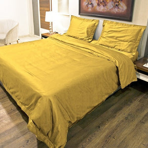gold duvet cover set