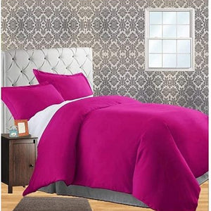 hot pink duvet cover with fitted sheet