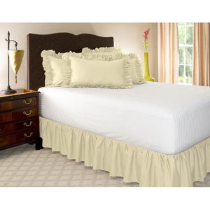 ivory gathered bed skirt