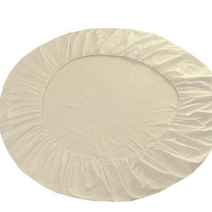 ivory round bed sheet