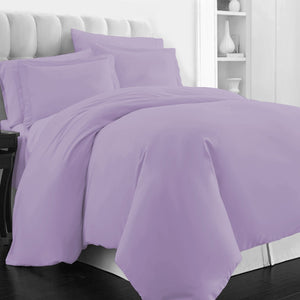 lavender duvet set with Flat sheet