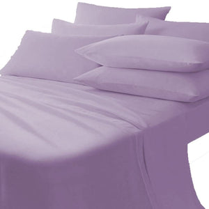lavender flat sheet with pillowcase