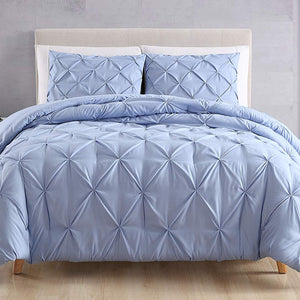 light blue pintuck duvet cover