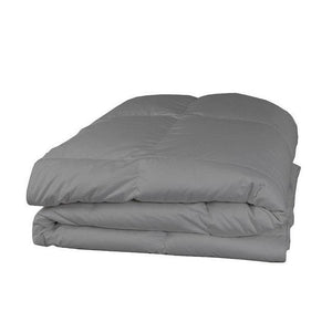 light grey comforter