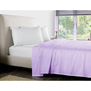 Lilac Flat Sheet Solid Sateen Comfy