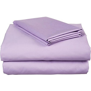 Lilac Bed Sheets Set Comfy Solid Sateen