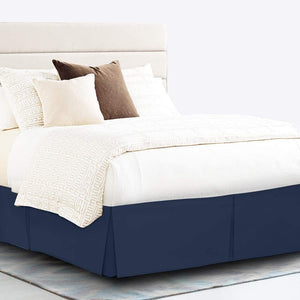 Navy Blue Bed Skirt