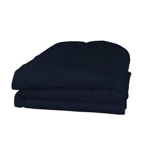 navy blue cotton comforter