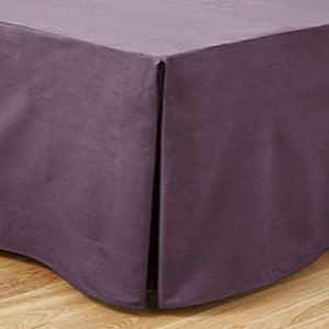 Lavender Bed Skirt Solid Sateen Bliss