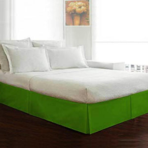 Comfy Parrot Green Bed Skirt Sateen Solid