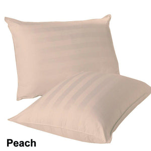 peach stripe euro shams