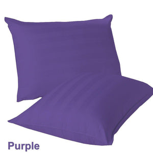 purple stripe euro shams
