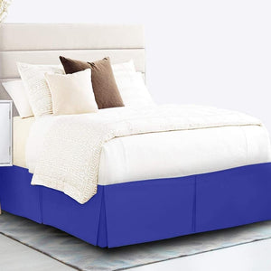 royal blue bed skirt