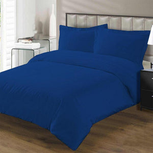 royal blue duvet cover set with fitted sheet