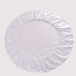 Round Fitted and Pillowcase Sateen Comfy Solid White