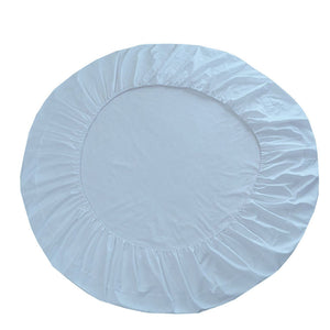 Light Blue Round Fitted Sheet Only Solid Sateen Bliss