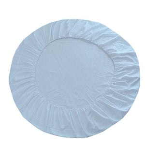 Comfy Round Sheet Set Solid 84 Inch Diameter Light Blue
