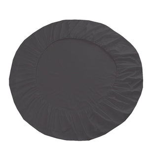 Dark Grey Round Fitted Sheet with Pillowcase