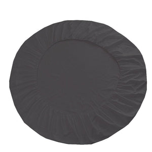 Round Fitted and Pillowcase Sateen Comfy Solid Dark Grey