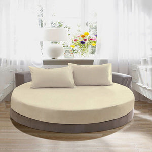 comfy ivory Round Fitted and Pillowcase Sateen
