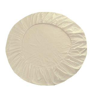 Round Fitted and Pillowcase Sateen Comfy Solid Ivory