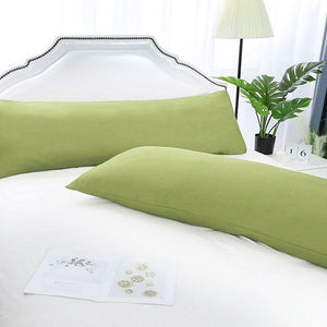 sage green body pillow cover