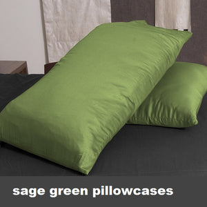 sage green pillowcases