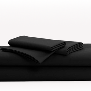 Black Sheet Set Bliss Solid Sateen