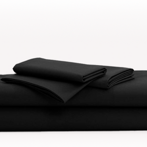Black Bed Sheets Set Comfy Solid