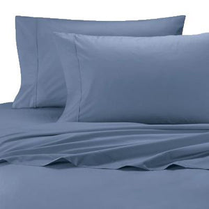 Jean Blue Solid Sateen Bliss Sheets Set