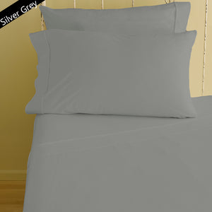 Fitted sheet with Pillowcase Solid Comfy Light Grey