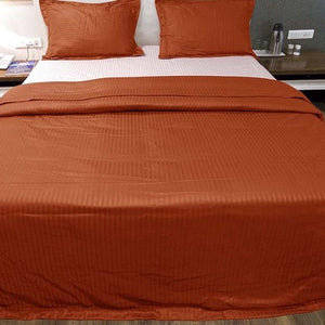 stripe orange duvet cover set