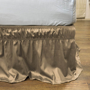 Taupe Wrap Around Bed Skirt