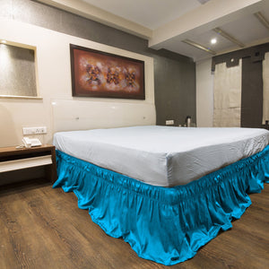 Turquoise Wrap Around Bed Skirt