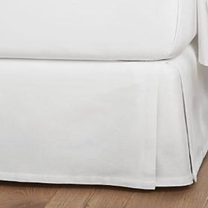 White Twin XL Bed Skirt