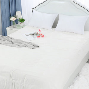 white cotton pillow cases